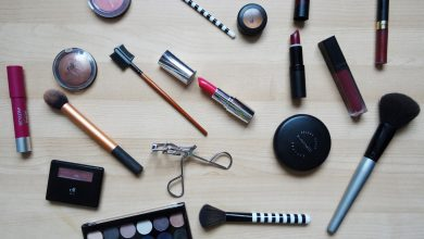 A selection of make-up and accessories