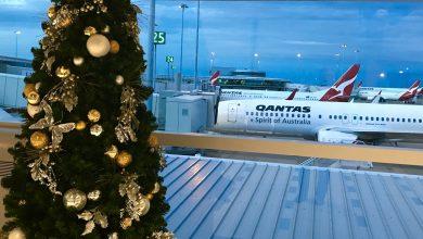 Brisbane airport at christmas