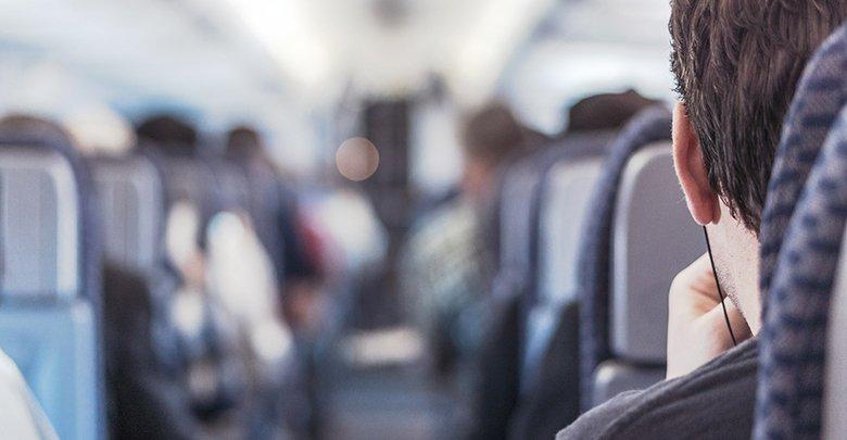 passengers on an aircraft
