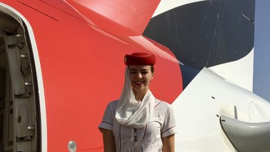 Rachel working for Emirates