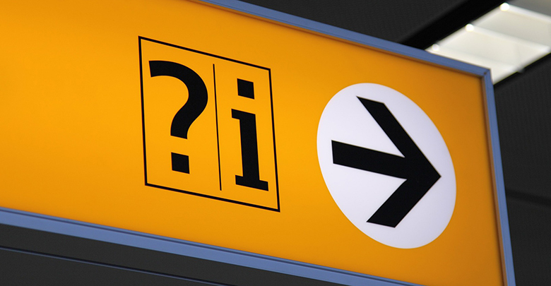 Information sign - top 5 airlines